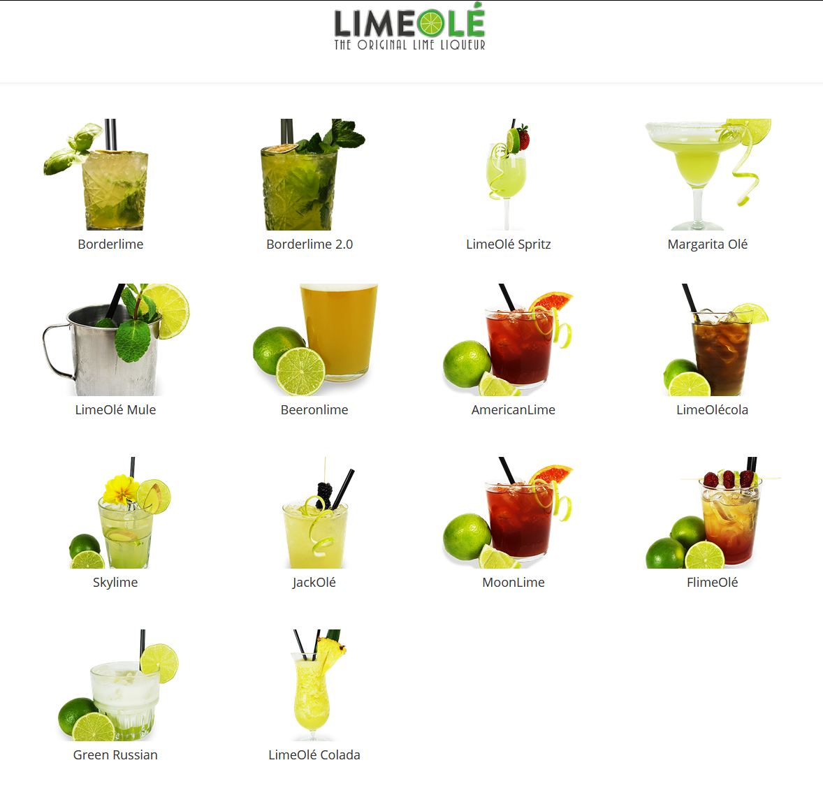 LimeOle all cocktails idea